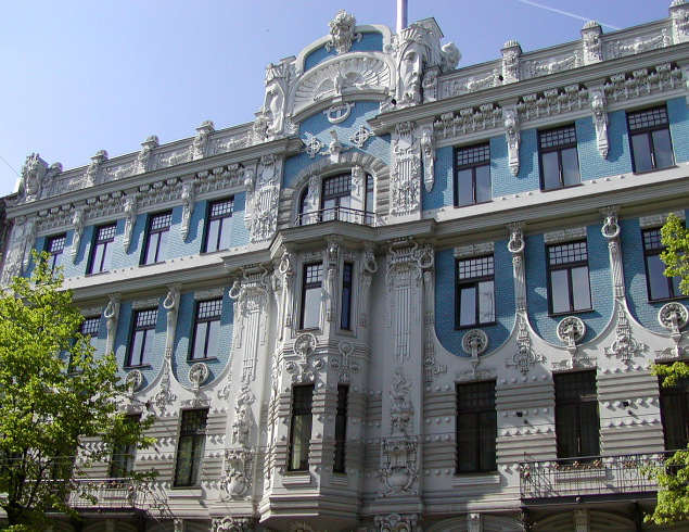elizabetes art nouveau architecture in riga