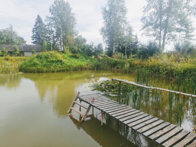 Latvian sauna pond